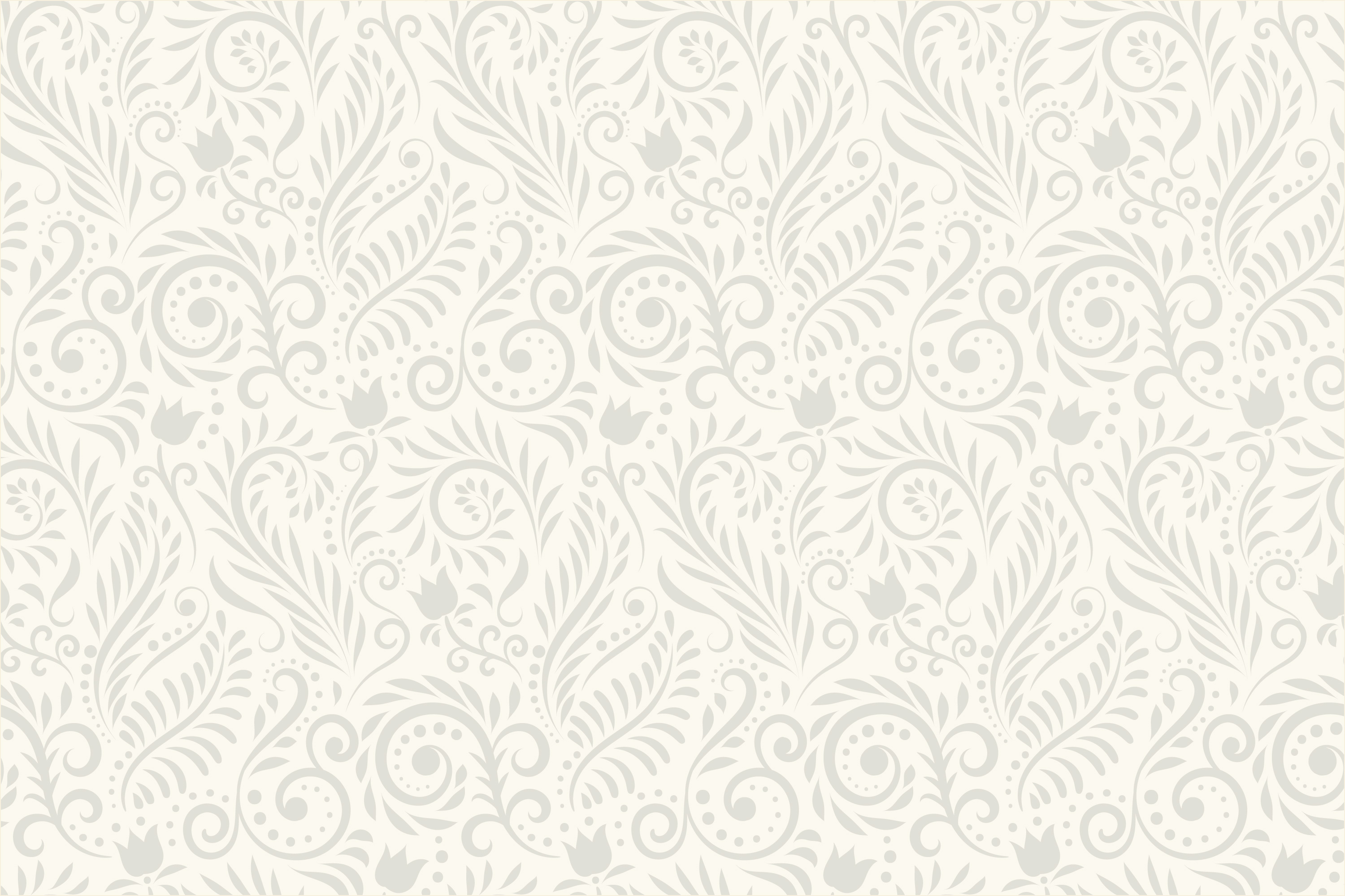 vintage scroll and flower pattern